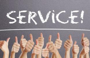 Schriftzug Service